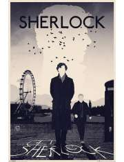 Sherlock - Londyn - plakat