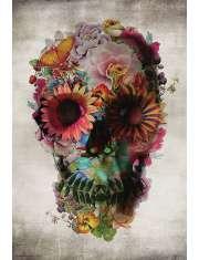 Flower Skull - plakat