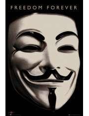 V For Vendetta Maska - plakat