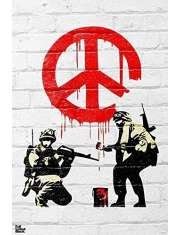 Banksy Peace soldiers - plakat
