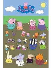 Świnka Peppa Postacie - plakat