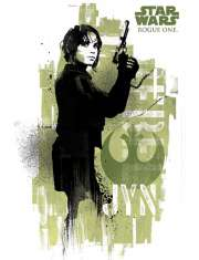 Star Wars Gwiezdne Wojny Łotr 1 (Jyn Grunge) - plakat