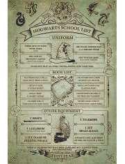 Harry Potter Hogwart Szkolna Lista - plakat