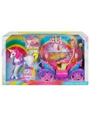Barbie Zestaw Tęczowa Karoca Jednorożec DPY38-22875
