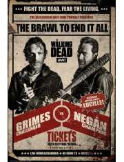 The Walking Dead Fight Rick i Negan - plakat
