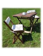 Zestaw Balkonowy Drewniany Stół   2 Krzesła Acacia-23773