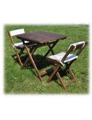 Zestaw Balkonowy Drewniany Stół   2 Krzesła Acacia-23774