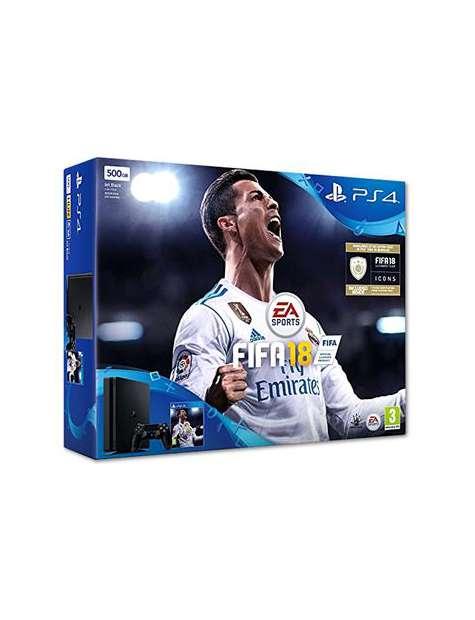 PlayStation 4 500Gb Slim Black   FIFA 18-25910
