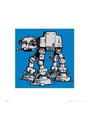 Gwiezdne Wojny Star Wars at-at - plakat premium