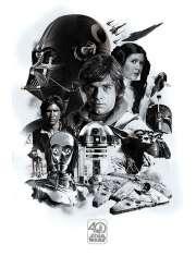 Gwiezdne Wojny Star Wars 40th Anniversary - plakat filmowy