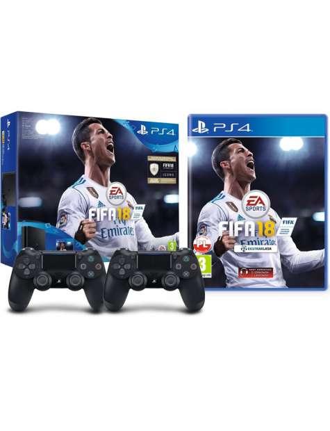 PlayStation 4 500Gb Slim   2 pady   FIFA 18-26854