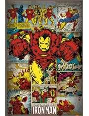 Marvel Comics - Iron Man Retro - plakat