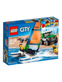 Klocki Lego City 60149 Terenówka 4x4 z katamaranem