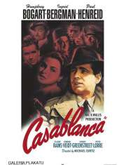 Casablanca - Humphrey Bogart Ingrid Bergman - retro plakat