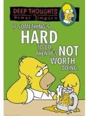 The Simpsons Głębokie Przemyślenia Homera - Simpsonowie - plakat