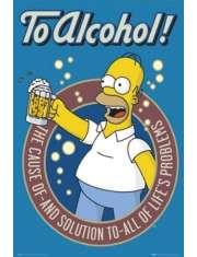 The Simpsons To Alcohol - Simpsonowie - plakat
