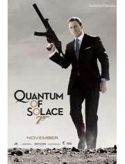 James Bond Quantum of Solace - portrait - plakat