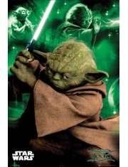 Star Wars Gwiezdne Wojny Yoda - plakat