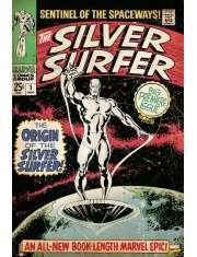 Srebrny Surfer retro - plakat