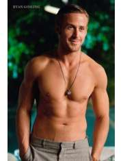 Ryan Gosling bez koszulki - plakat