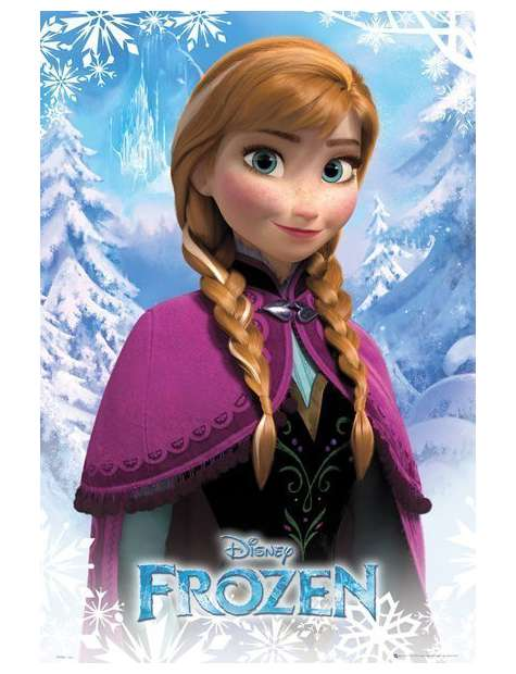 Frozen Kraina Lodu Anna Plakat Mobisoft