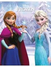 Kraina Lodu Frozen Anna i Elza razem - plakat