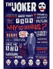 Joker Infografika - Batman Mroczny Rycerz - plakat
