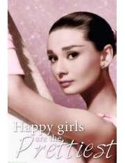 Audrey Hepburn Szczęśliwe Dziewczyny są Najładniejsze - plakat