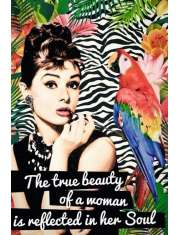 Audrey Hepburn Prawdziwe Piękno - plakat