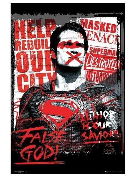 Batman v Superman Superman Fałszywy Bóg - plakat