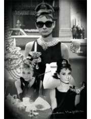 Audrey Hepburn Montage - plakat 3D