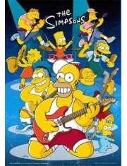 The Simpsons rock - plakat 3D