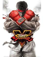 Street Fighter 5 Ryu Key Art - plakat