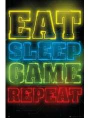 Eat Sleep Game Repeat - plakat