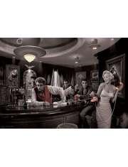 Marylin Monroe, James Dean, Elvis Presley w Barze by Chris Consani - plakat