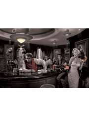 Marilyn Monroe, James Dean i Elvis Presley - Java Dreams by Chris Consani - plakat