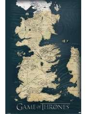 Gra o Tron Mapa Królestw - plakat