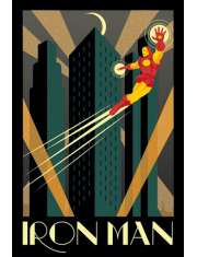 Marvel Iron Man Retro - plakat