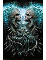 Spiral Flaming Spine - plakat