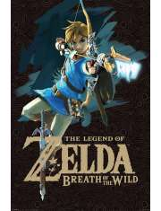 The Legend of Zelda Breath of the Wild (Game Cover) - plakat