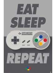 Nintendo Eat Sleep Repeat - plakat