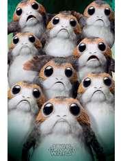 Star Wars Gwiezdne Wojny Ostatni Jedi Porgs - plakat