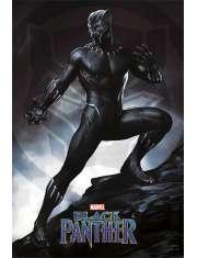Czarna Pantera Black Panther Walka - plakat