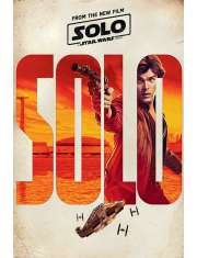 Star Wars Han Solo Gwiezdne Wojny historie Sokół Miellenium - plakat