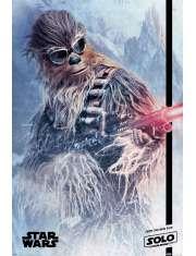 Star Wars Han Solo Gwiezdne Wojny historie Chewie Blaster - plakat