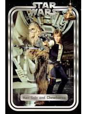 Gwiezdne Wojny Han Solo i Chewie Star Wars Classic - plakat