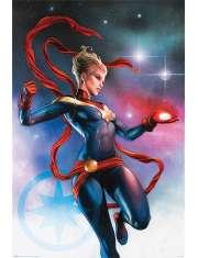 Kapitan Marvel Galaxy - plakat