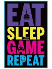 Eat, Sleep, Game, Repeat - plakat