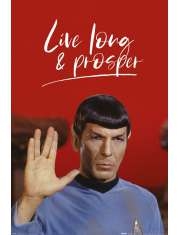 Star Trek Spock Live Long and Prosper - plakat