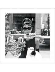 Audrey Hepburn Window - plakat premium